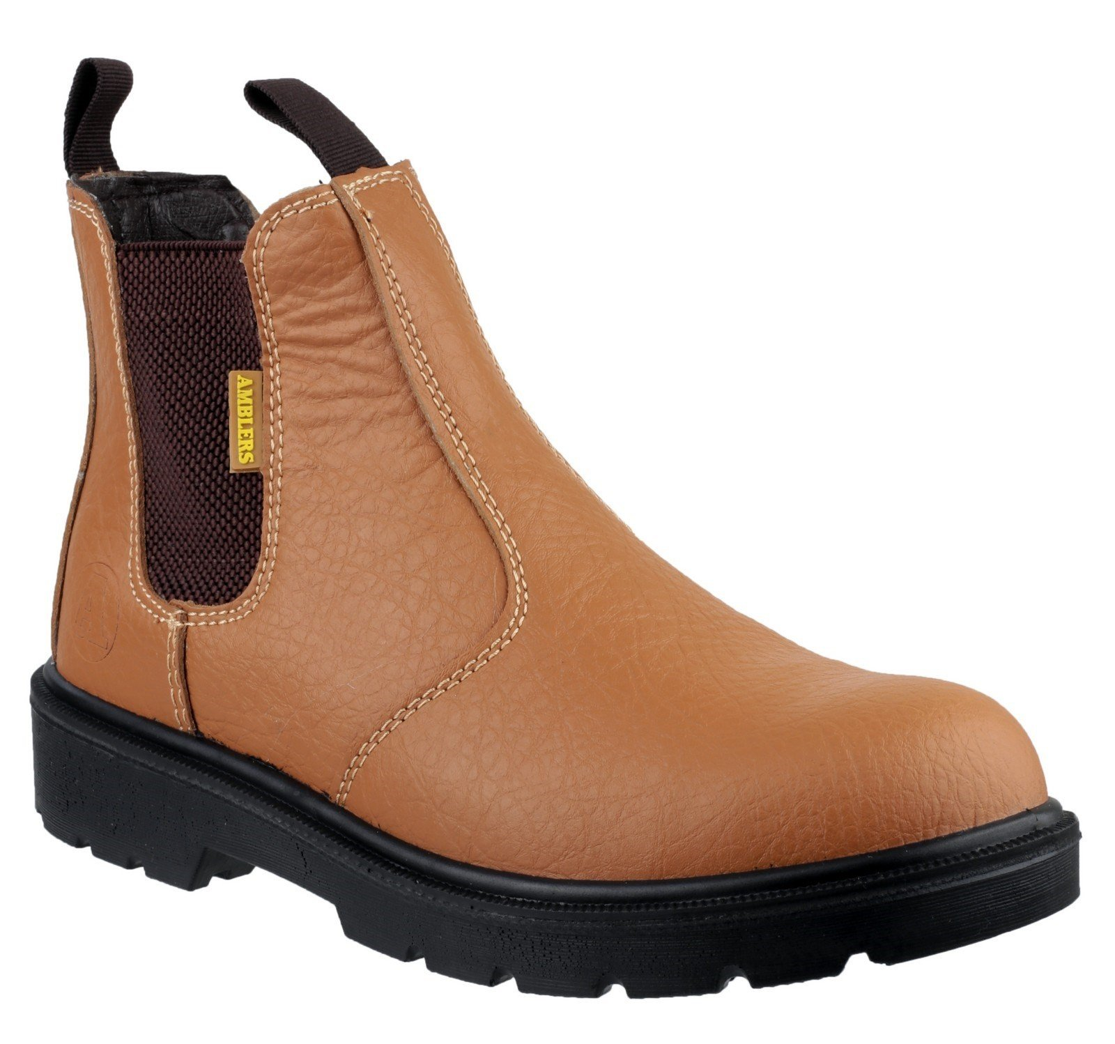Amblers Unisex Safety Dual Density Pull on Chelsea Boot Tan 19920 - Tan 3