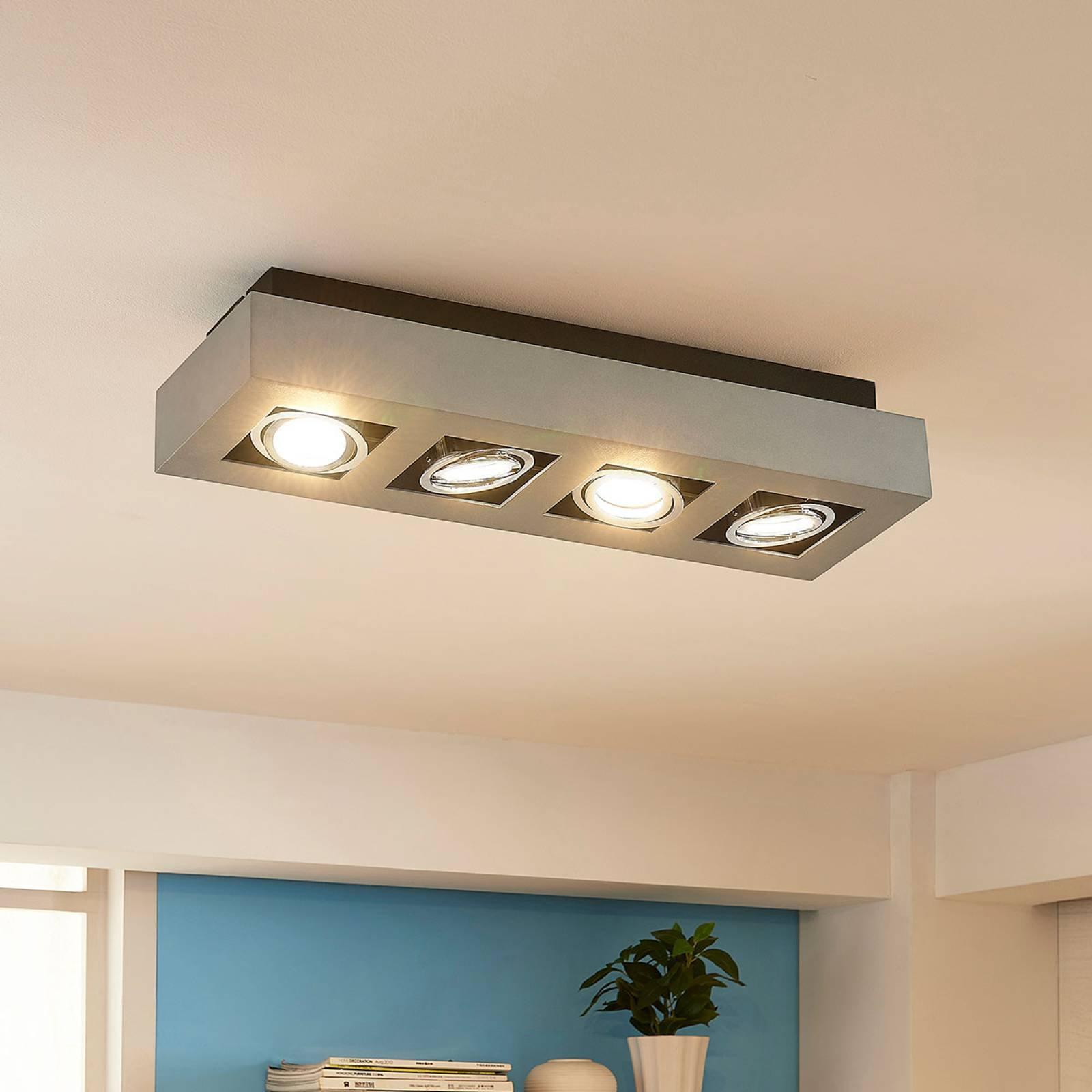 LED-taklampe Vince med 4 lyskilder