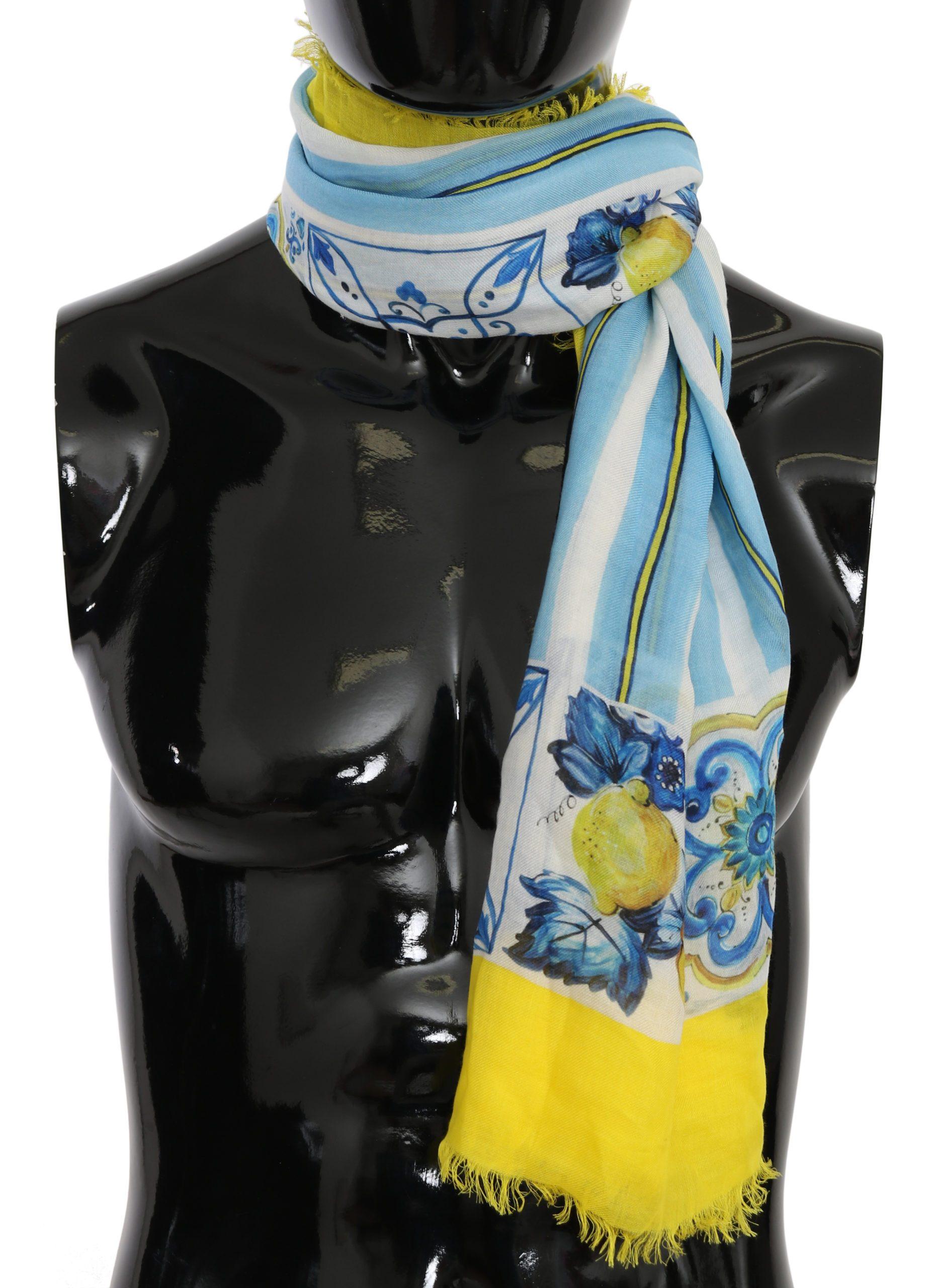 Dolce & Gabbana Men's Majolica Print Wrap Scarf Multicolor MS6086