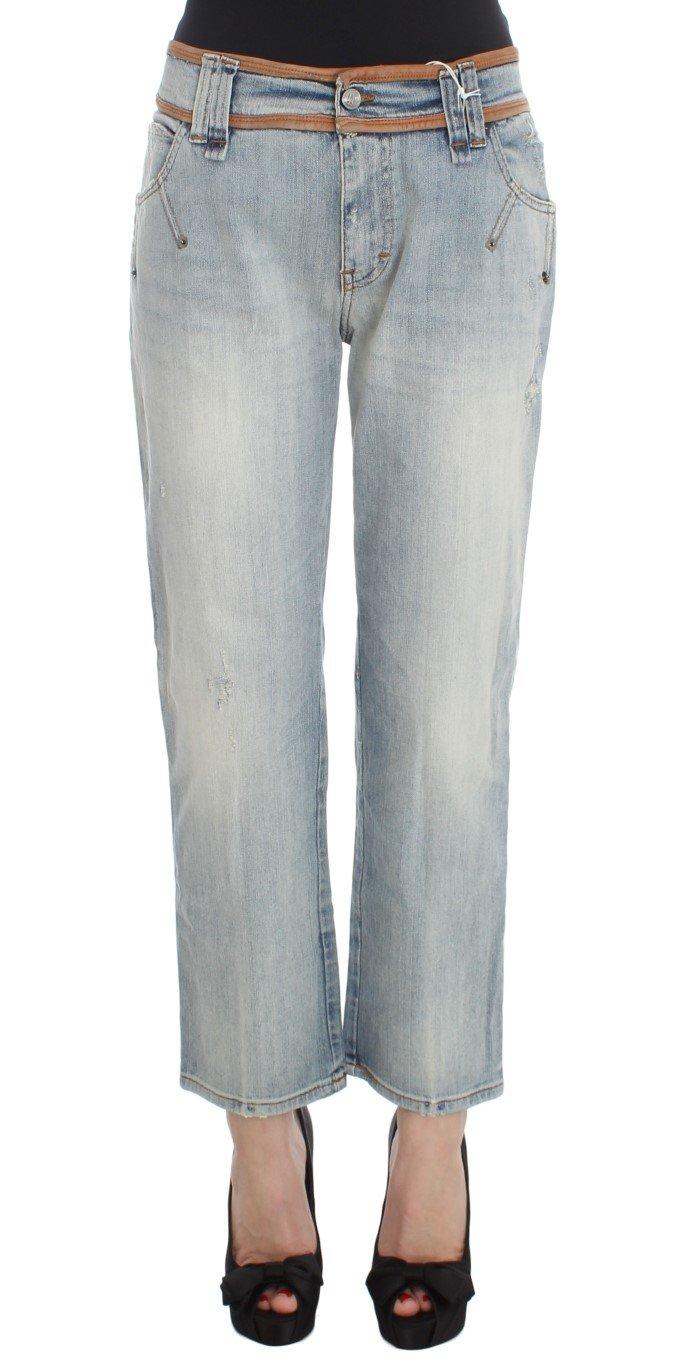 John Galliano Women'sCotton Boyfriend Fit Cropped Jeans Blue SIG30242 - W26