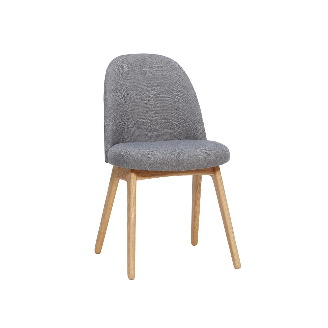 Klädd stol mörkgrå/ ekben, Hubsch