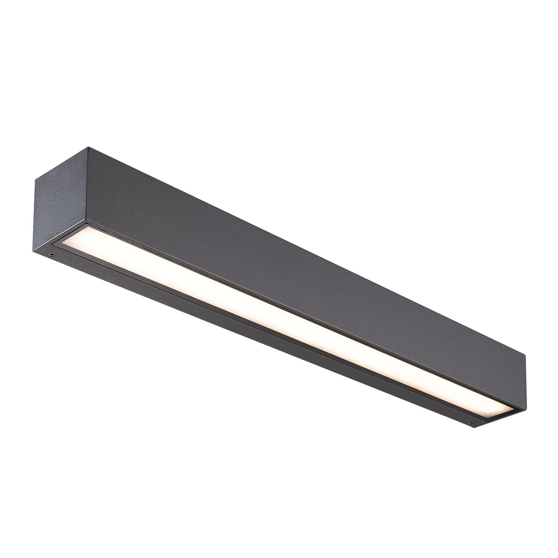 Lucande Lengo-LED-seinävalo 50cm grafiitti 1 lamp.