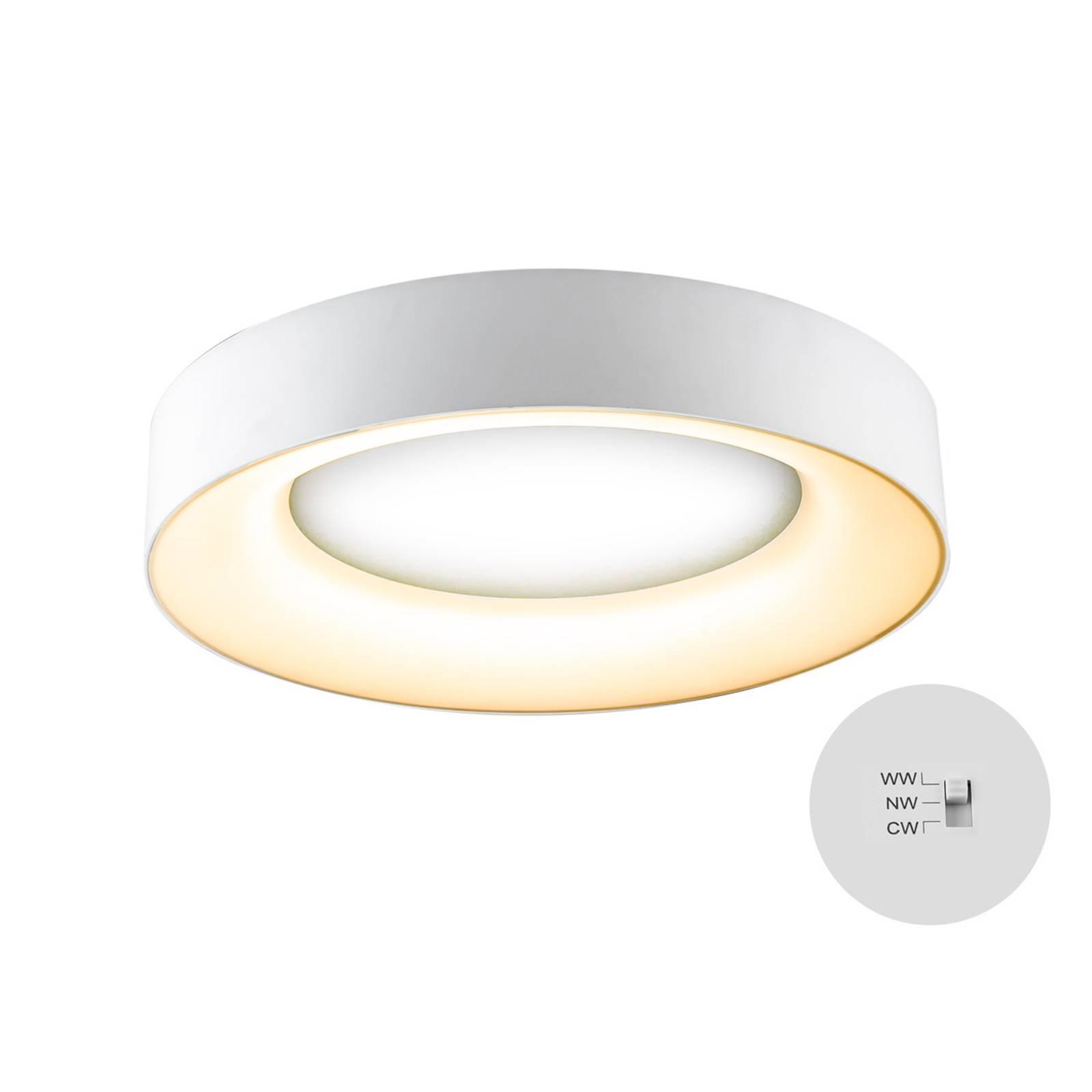 LED-kattovalaisin R40, Ø 40 cm, valkoinen