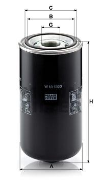 Öljynsuodatin MANN-FILTER W 13 120/3