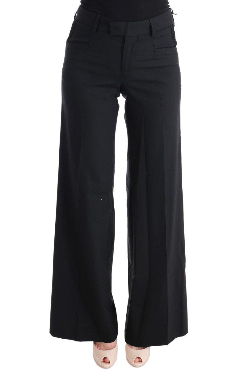 Ermanno Scervino Women's Wide Leg Trouser Black SIG30322 - IT42|M