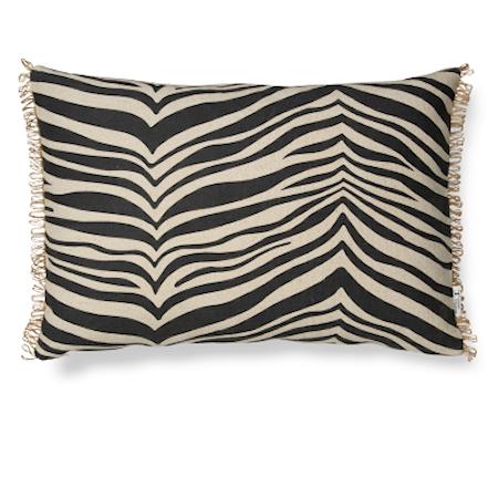 Zebra Pute Svart 40x60 cm