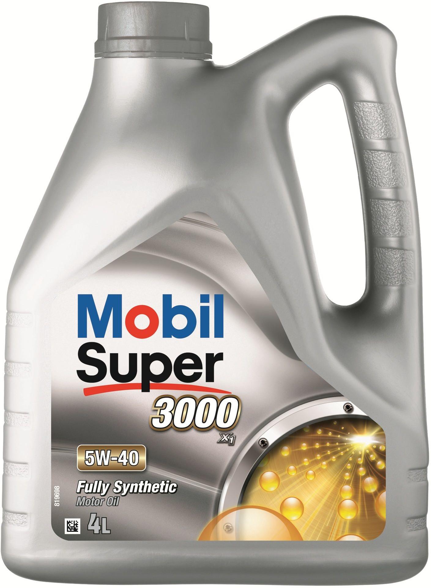 Moottoriöljy MOBIL 5W40 SUPER 3000 X1 4L