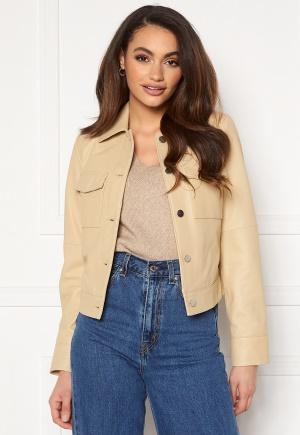 JOFAMA Lynn Leather Jacket Sand 36