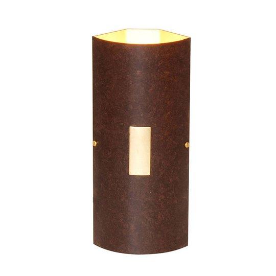 Menzel Solo vegglampe kant brun-svart/gull
