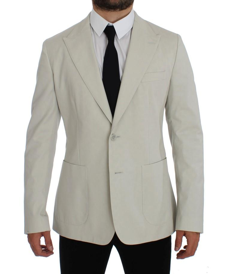 Dolce & Gabbana Men's Cotton Stretch Blazer White GTT10070 - IT44 | XS