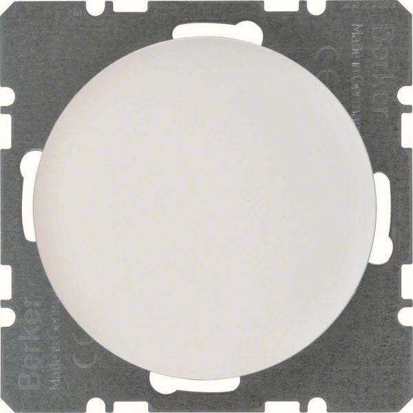 Hager 10092089 Umpinainen keskiölevy Berker-sarjalle R.1/R.3 valkoinen
