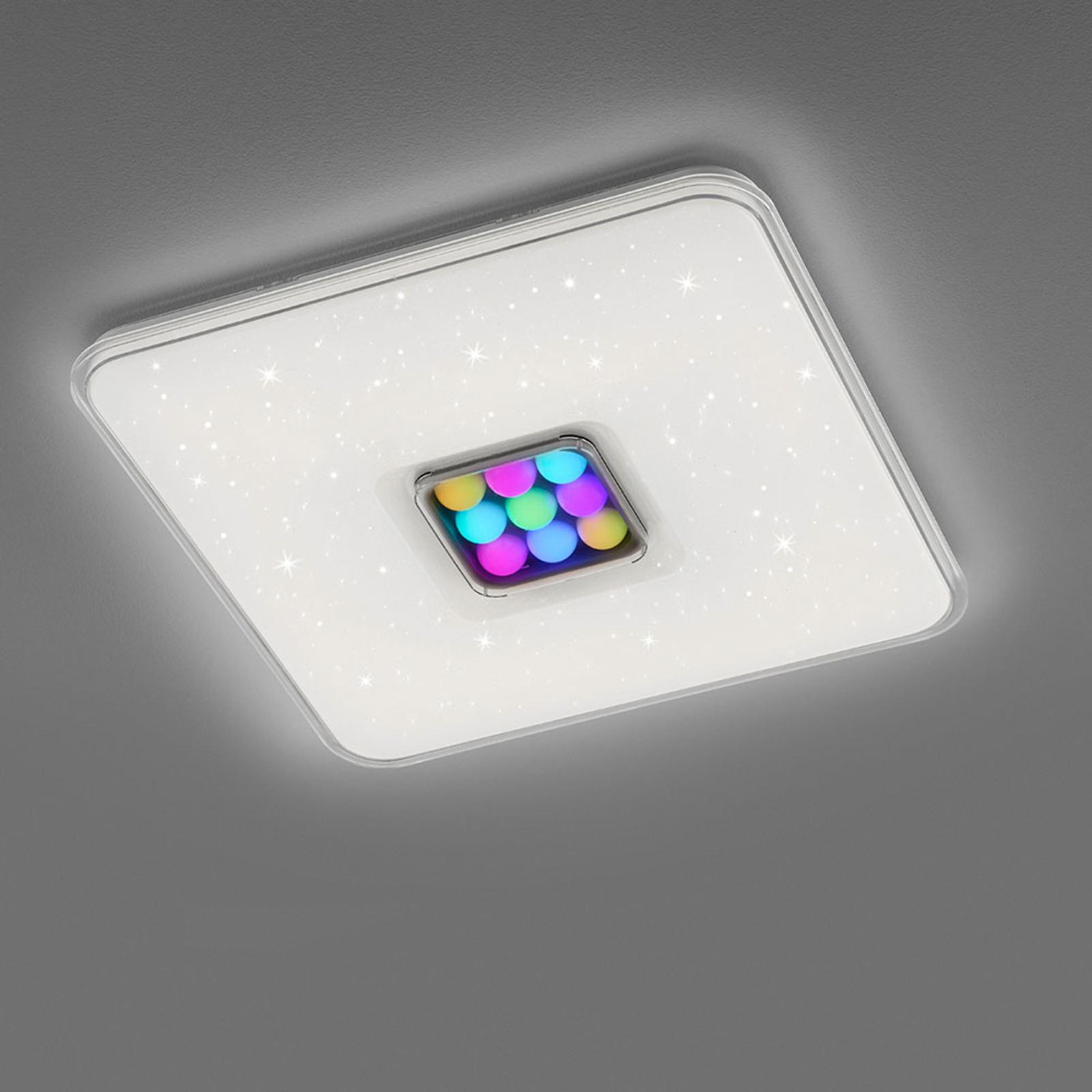 LED-kattovalaisin Ogasaki, RGBW, kaukosäädin, 52cm