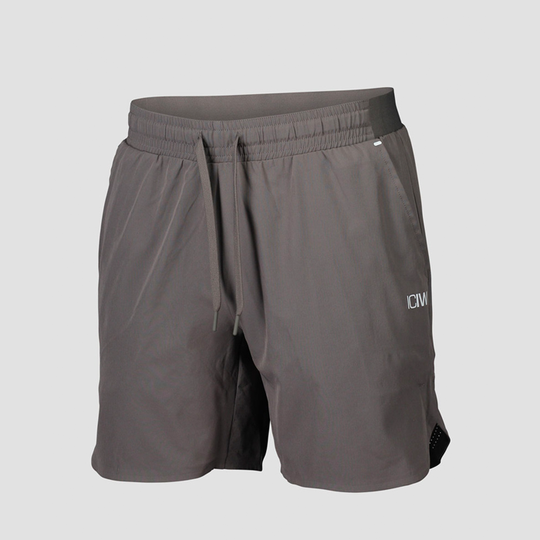 Competitor Shorts, Grey/White
