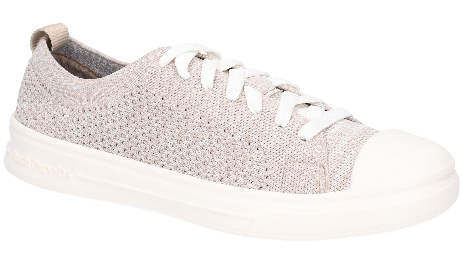 Hush Puppies Women's Schnoodle Lace Up Summer Shoe Various Colours 28425 - Taupe 3