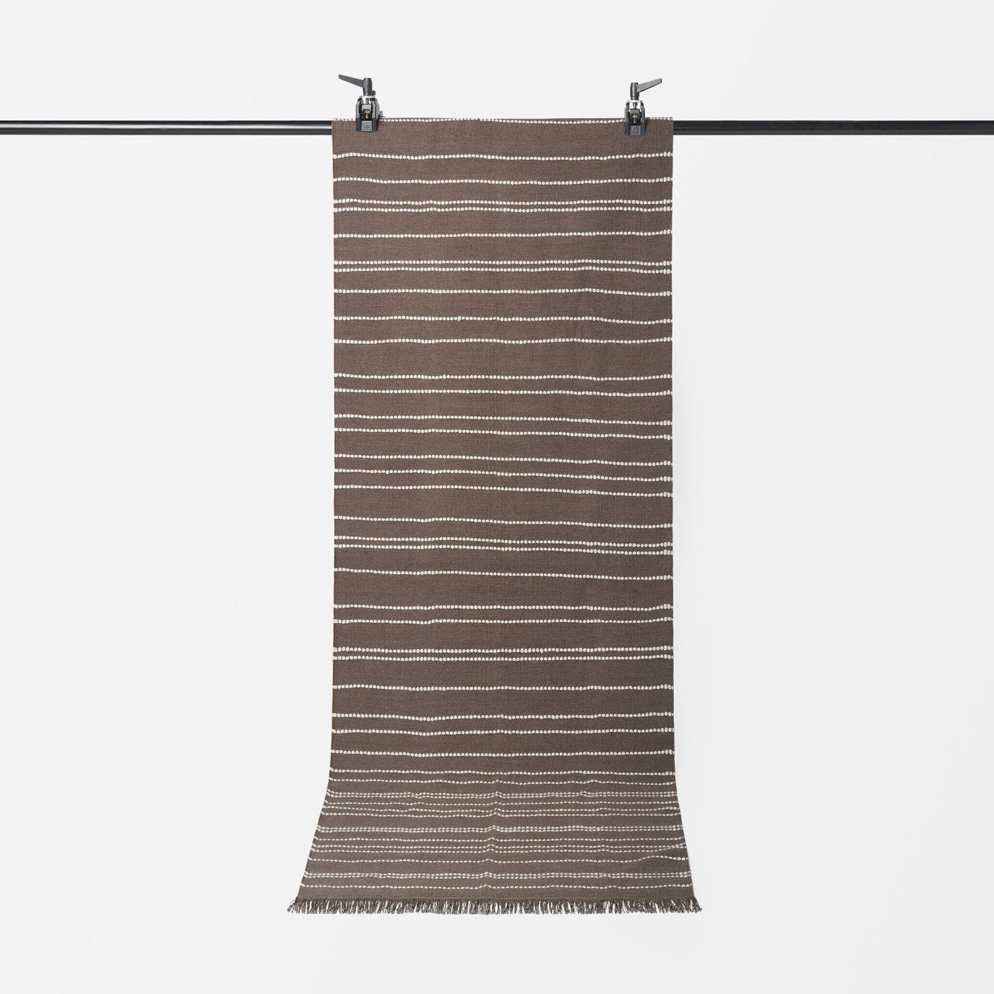 Randig ullmatta PINSTRIPE, 70x200 cm