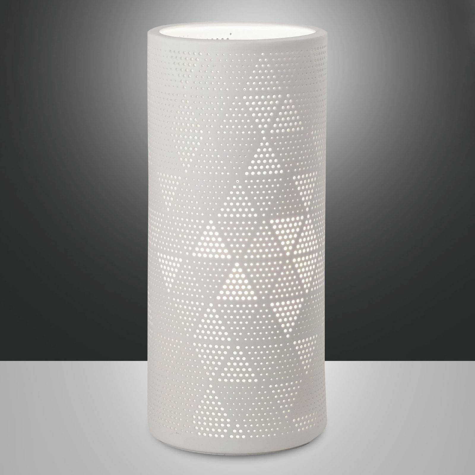 Bordlampe Micol av keramikk, høyde 28,5 cm