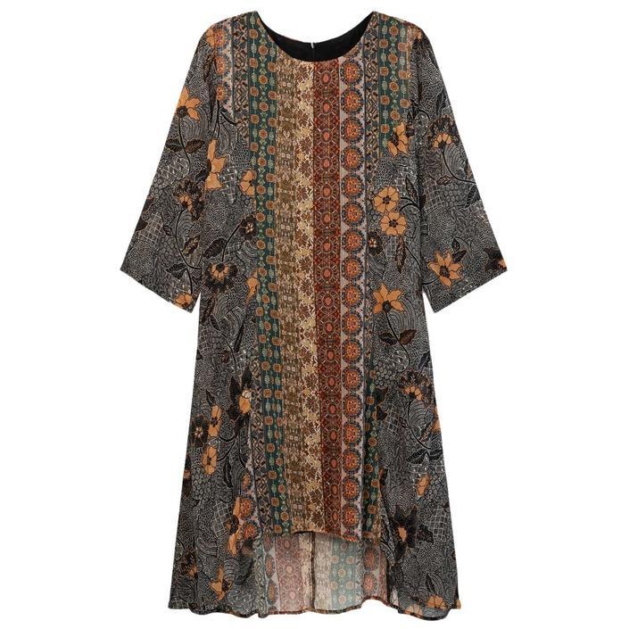 Desigual Women's Dress Brown 177754 - brown XS