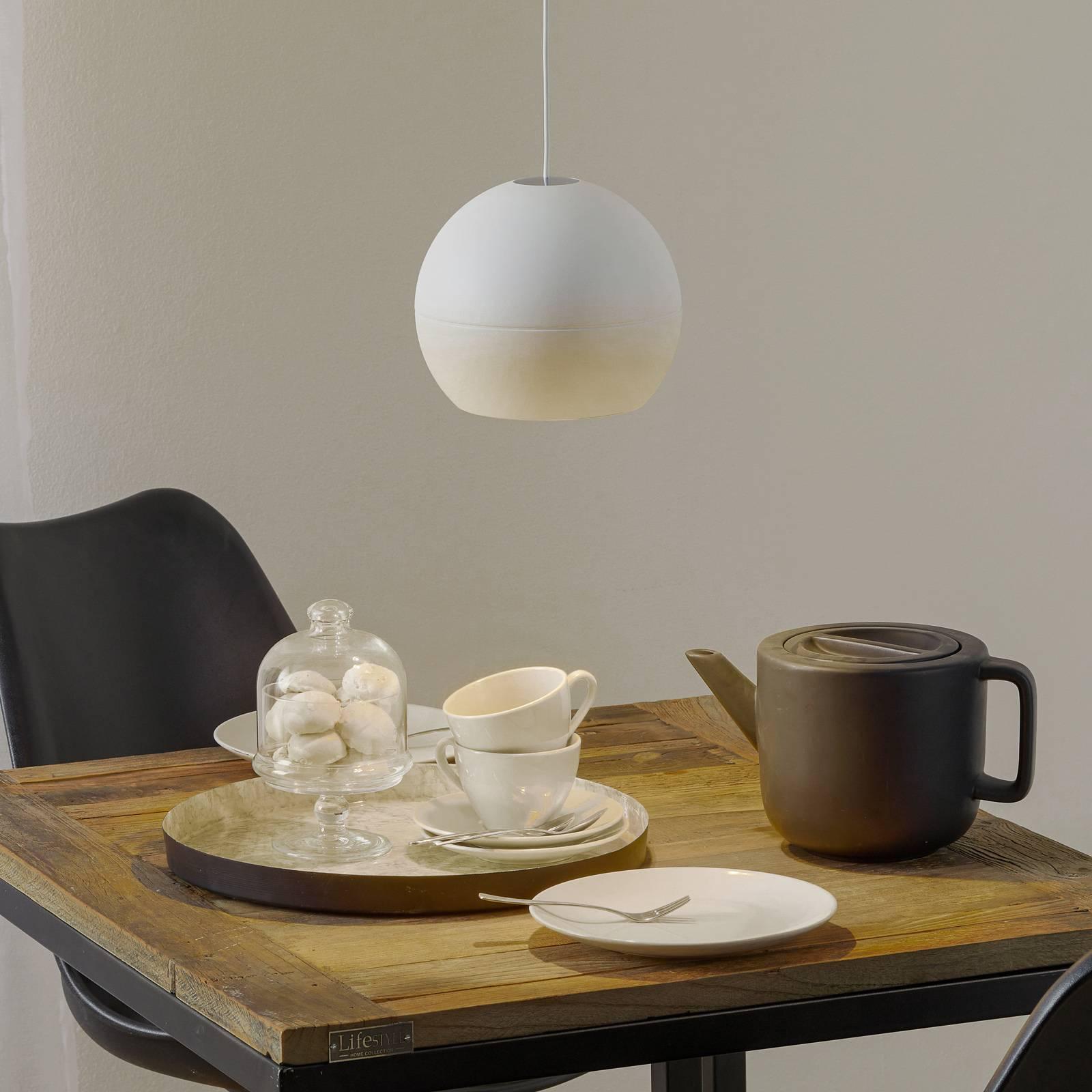 BEGA Studio Line Pendel DALI, valkoinen Ø19 cm