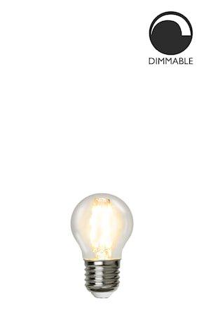 Lyskilkde E27 LED Filament Glob Klar 45 mm 4,2W