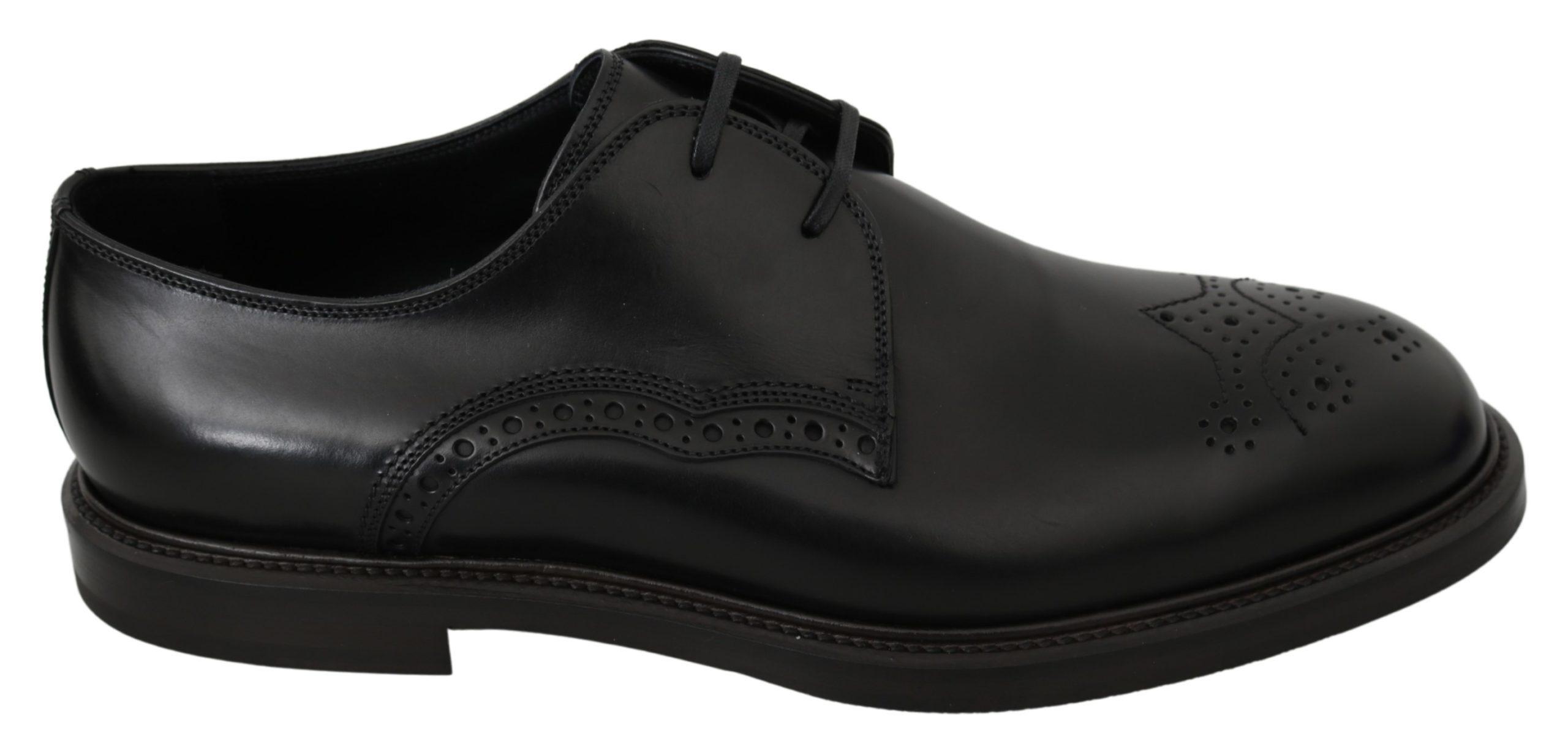 Dolce & Gabbana Men's Leather Formal Derby Shoe Black MV2897 - EU42/US9