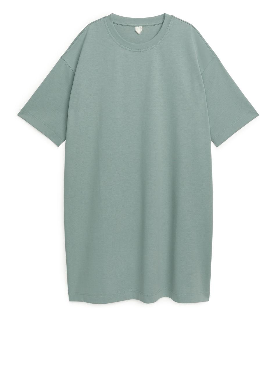 Jersey T-Shirt Dress - Green