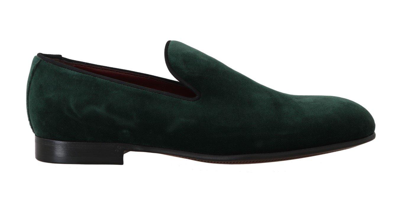 Dolce & Gabbana Women's Suede Leather Flat Shoe Green LA4978 - EU35/US4.5