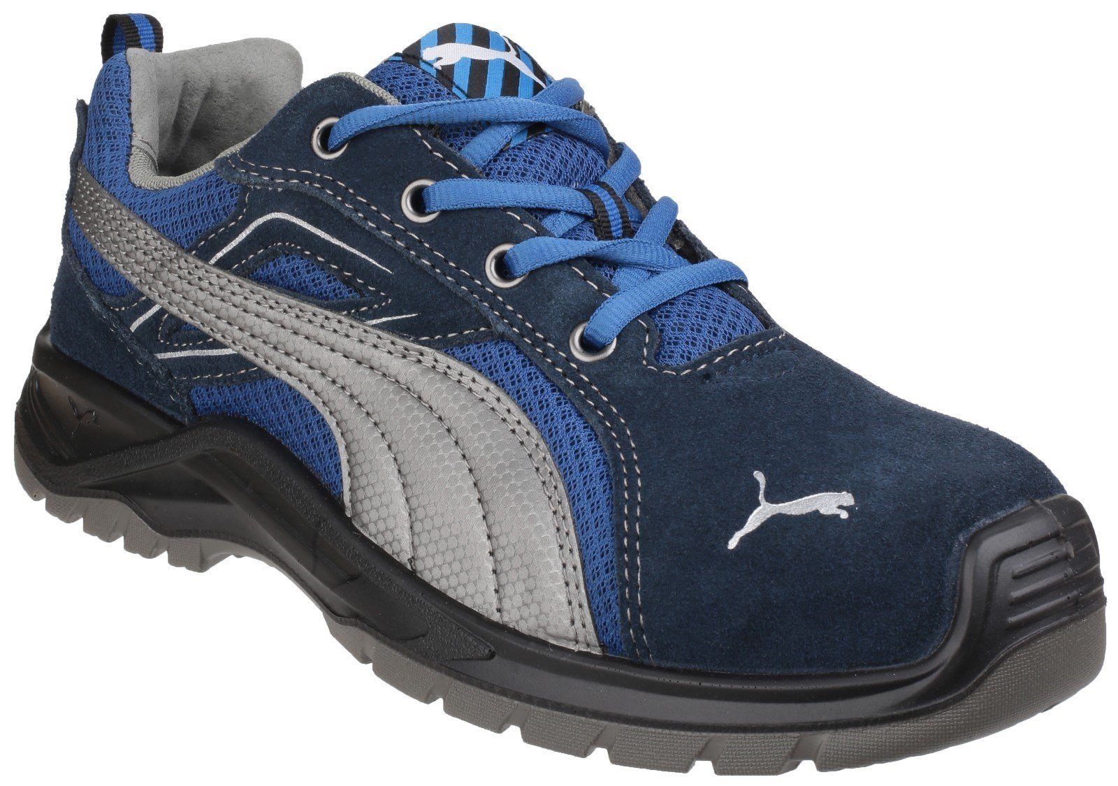 Puma Safety Unisex Omni Sky Low Lace up Safety Trainer Blue 24857 - Blue 6.5