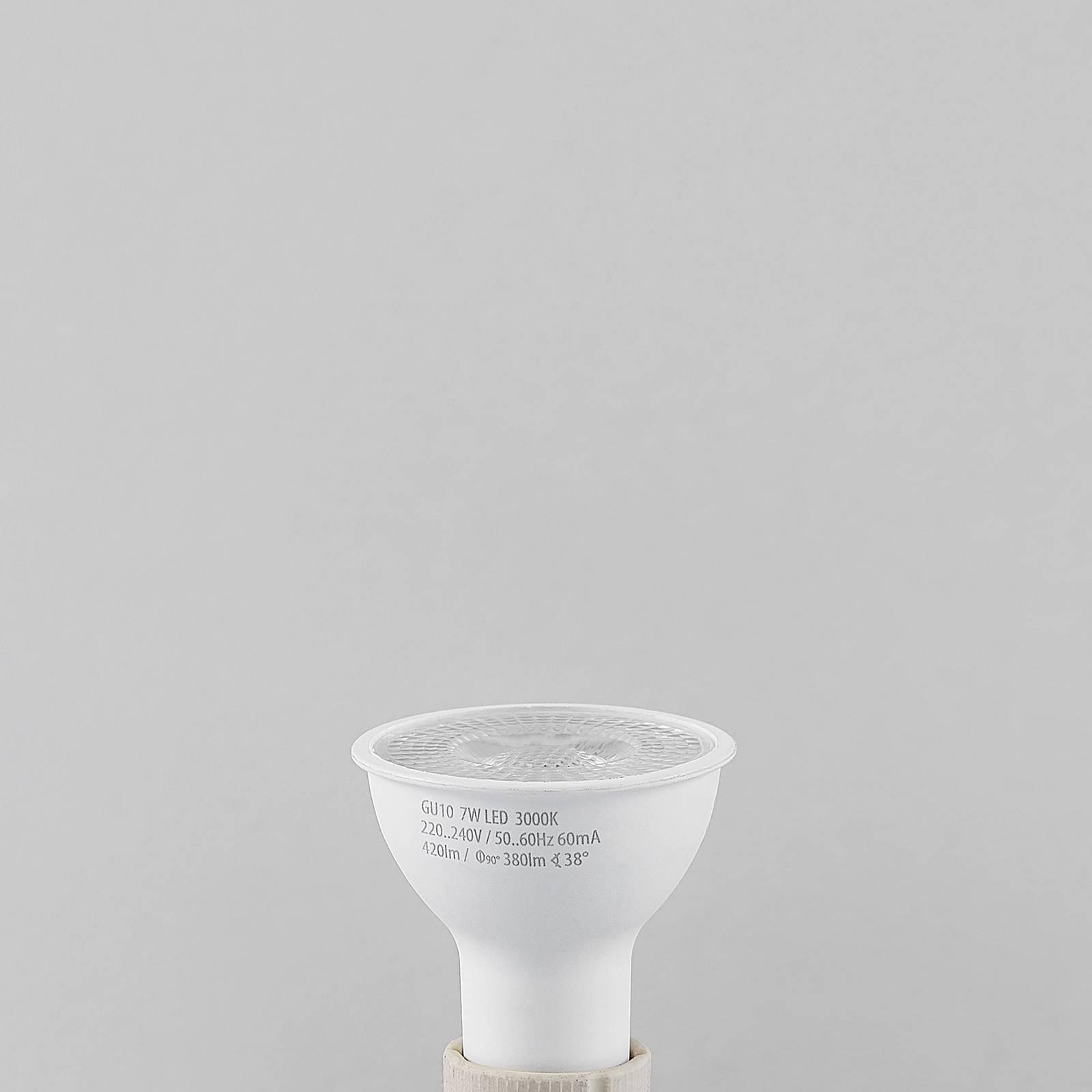 LED-heljastinlamppu GU10 7W 3 000 K, 420 lm, 38°