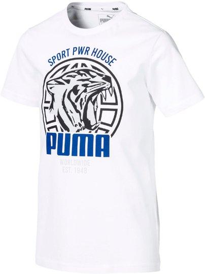 Puma Alpha Graphic T-Skjorte, White 98