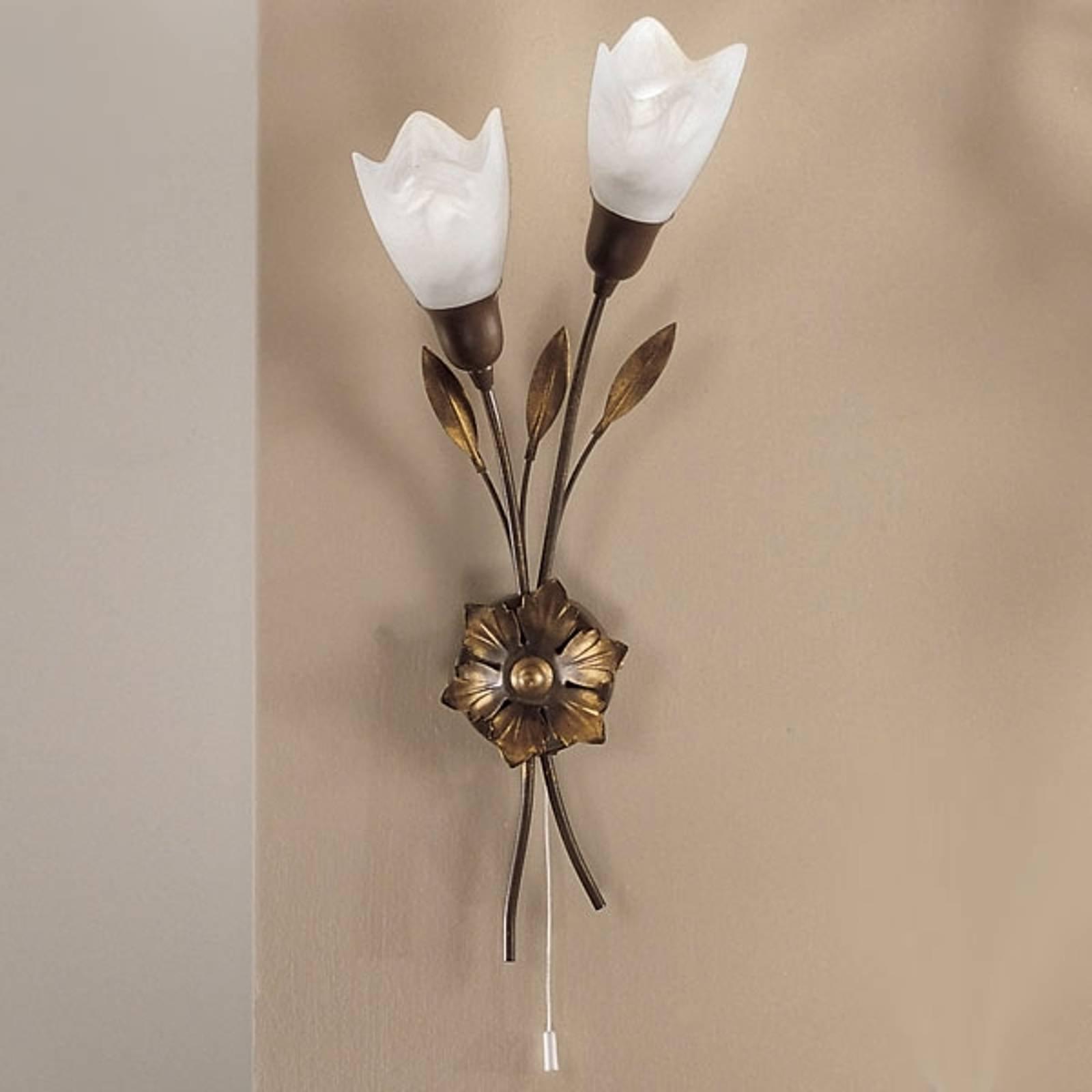 CAMPANA-vegglampe lang blomst høyre