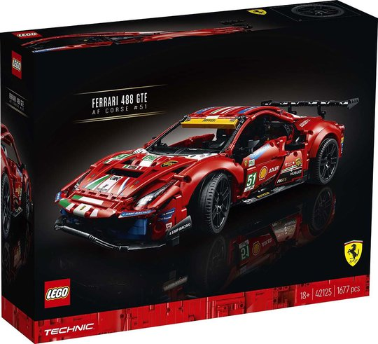 "LEGO Technic 42125 Ferrari 488 GTE ""AF Corse 51"""