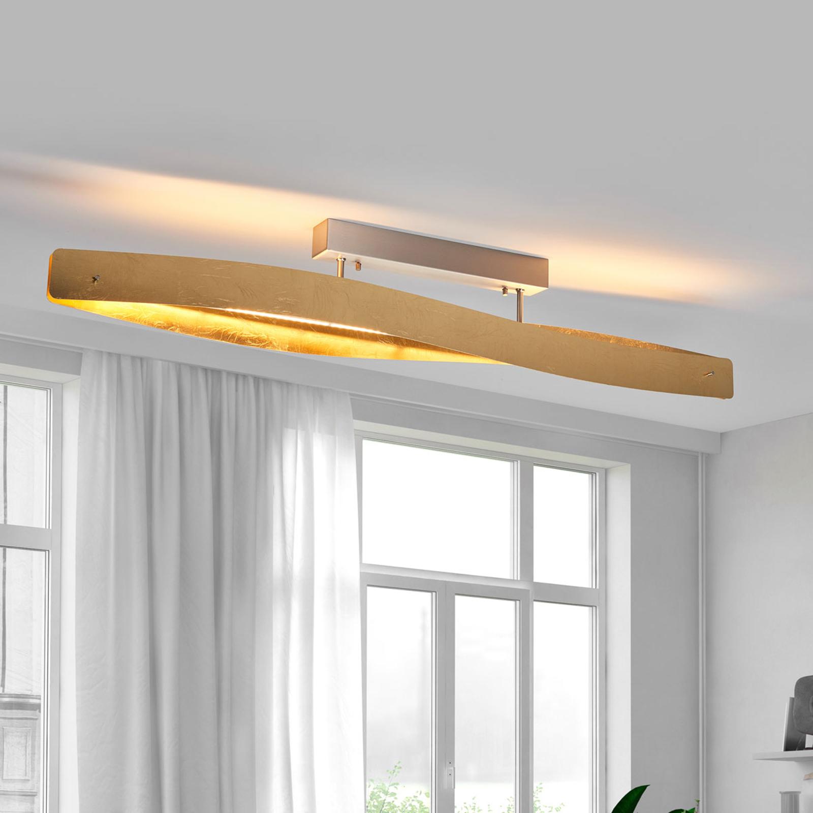 Hieno LED-kattovalaisin lehtimetalliviimeistelyllä