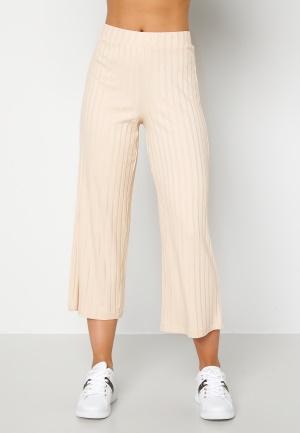 Happy Holly Emmy rib wide pants Light beige 32/34