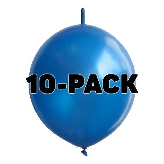 Kedjeballonger Blåa - 10-pack