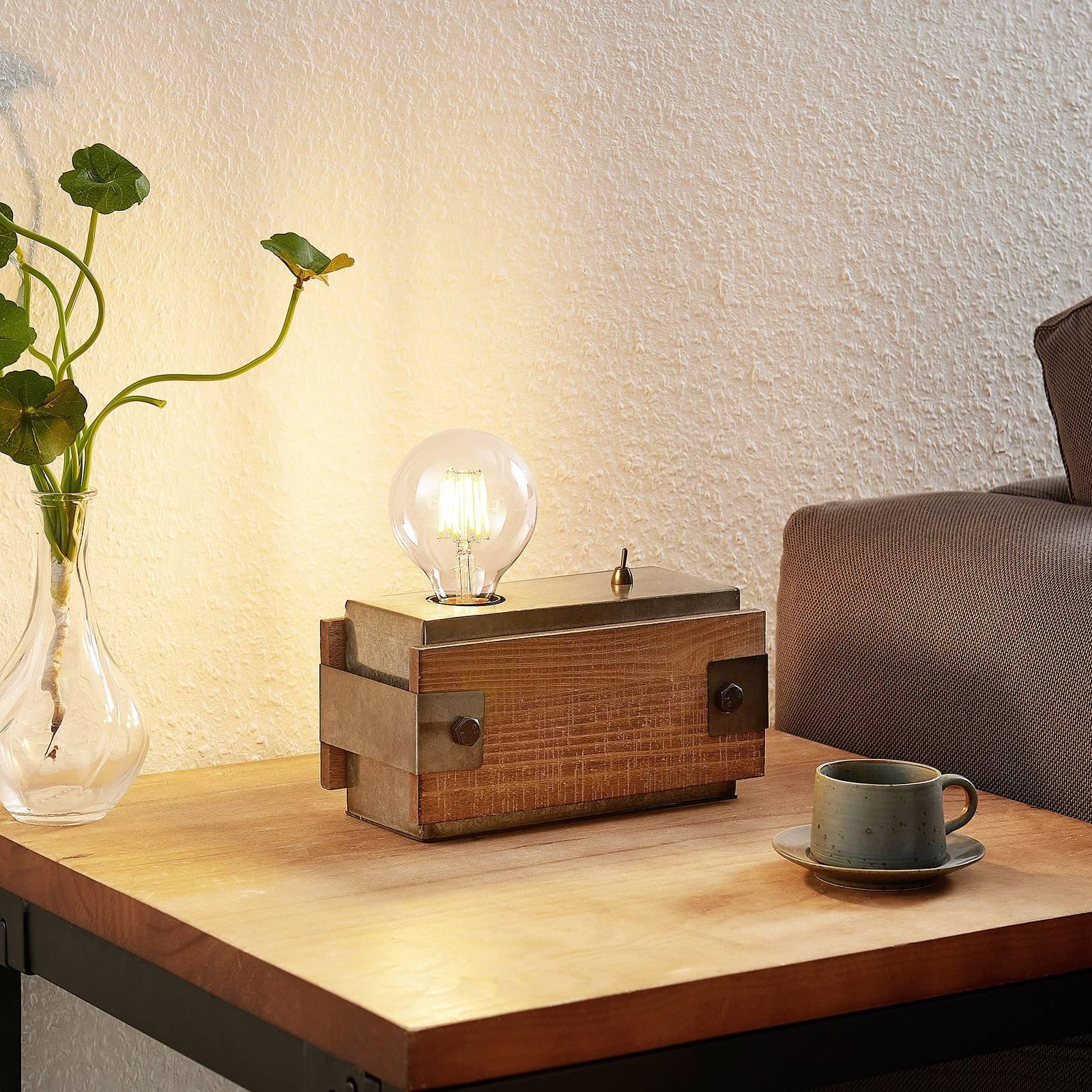 Lindby Nilaska bordlampe 1 lyskilde med bryter