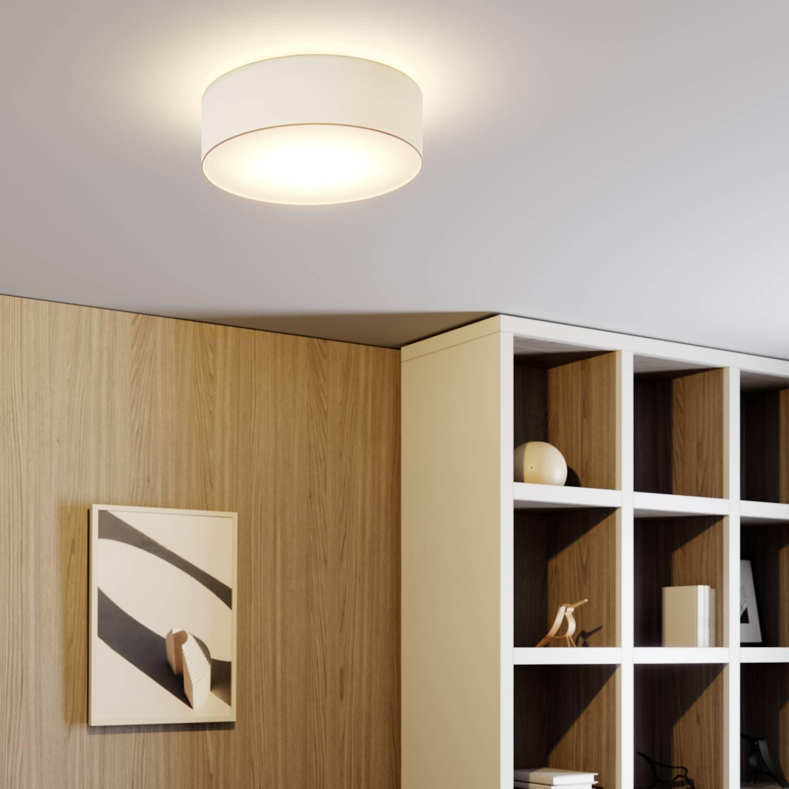 Lindby Finnek RGB-LED-kattovalo, kangasvarjostin