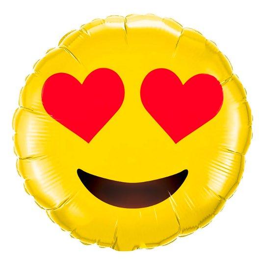 Folieballong Emoji Love