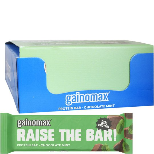 "Hel Låda Proteinbars ""Chocolate Mint"" 15 x 60g - 60% rabatt"