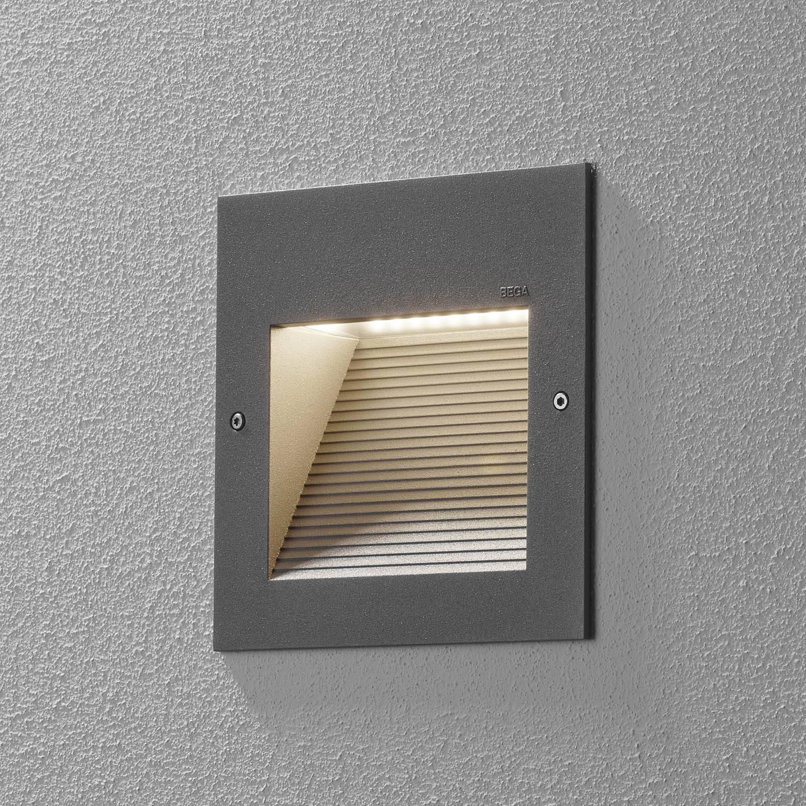 BEGA 24202 LED-seinäuppovalaisin, 3000K, hopea
