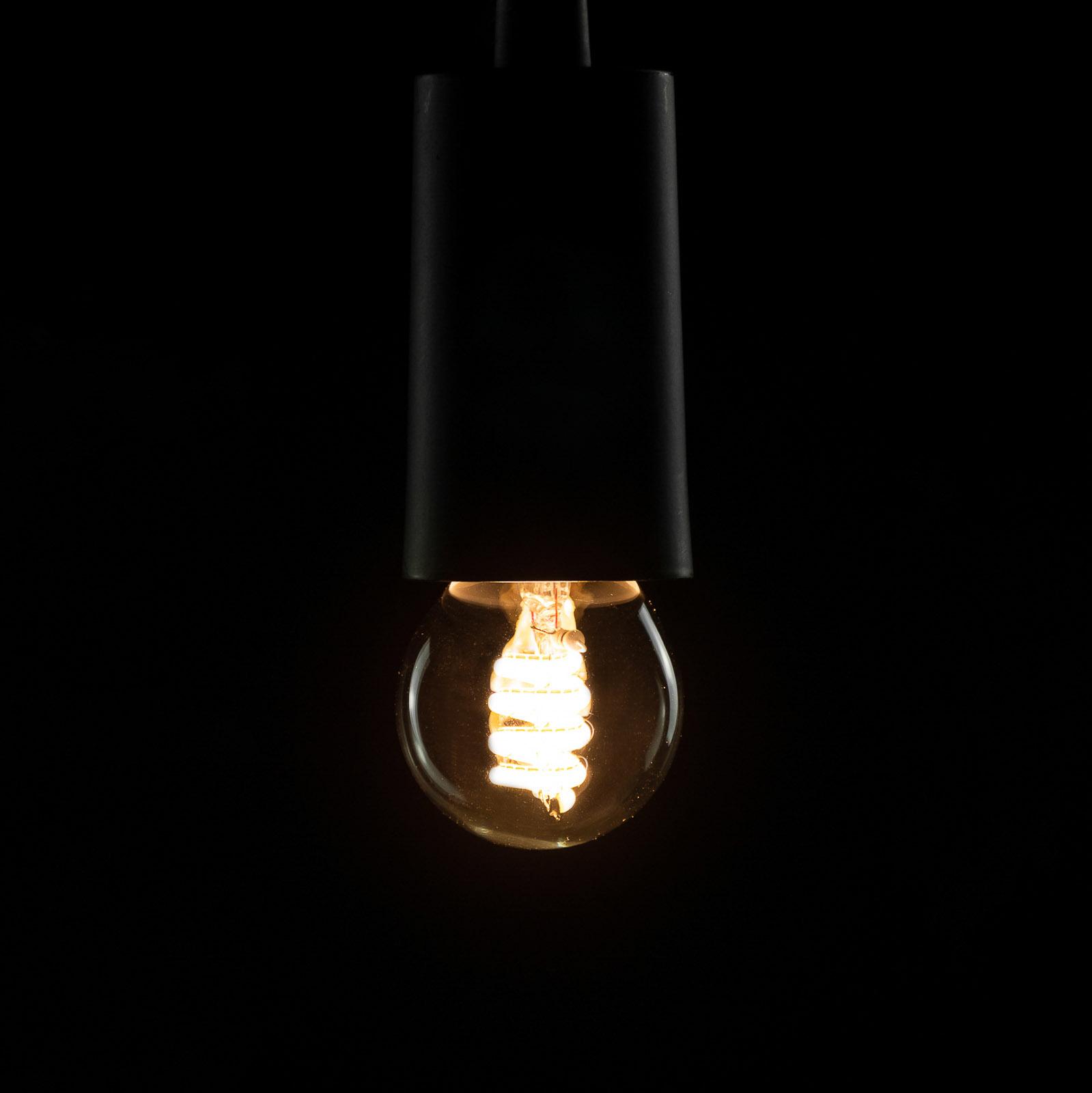 SEGULA LED-lamppuE27 4W G45 Curved ambient kirkas