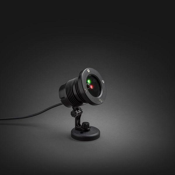 Konstsmide 4530-590 Laserlamppu punainen ja vihreä, LED, ajastin, 12V/IP44