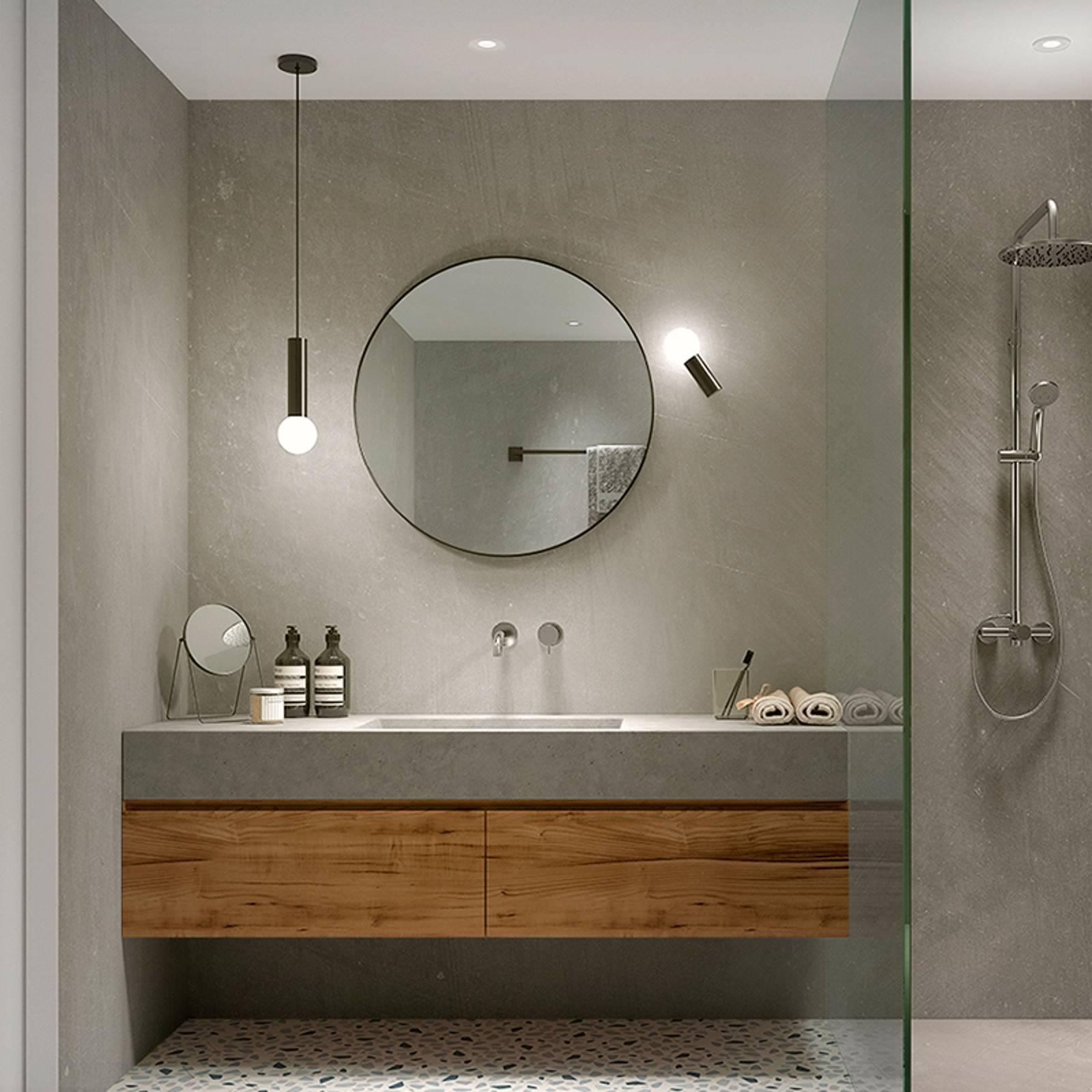 LEDS-C4 Mist, kylpyhuoneen seinälamppu, kromi