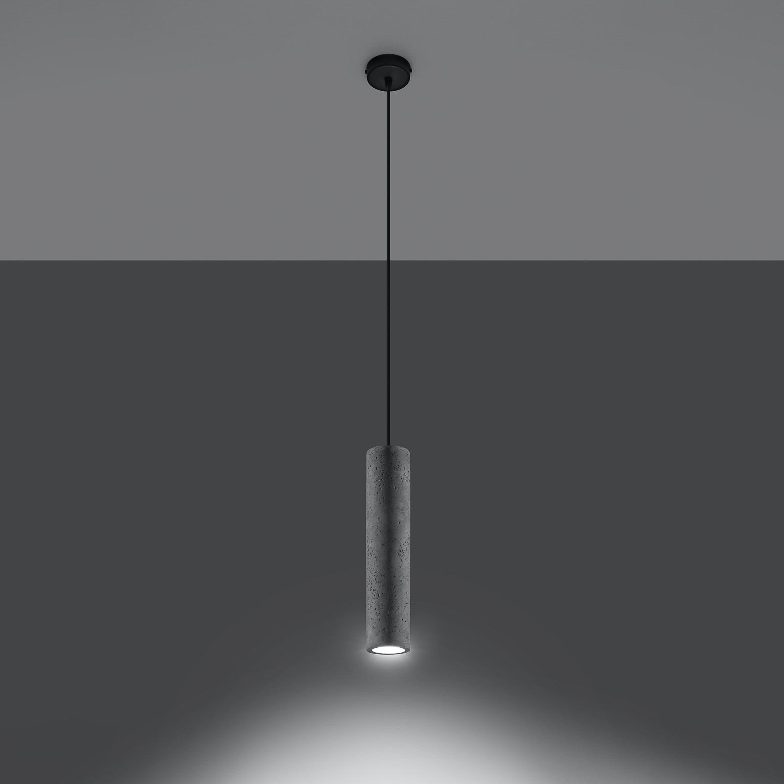 Riippuvalo Tube betonia, yksilamppuinen