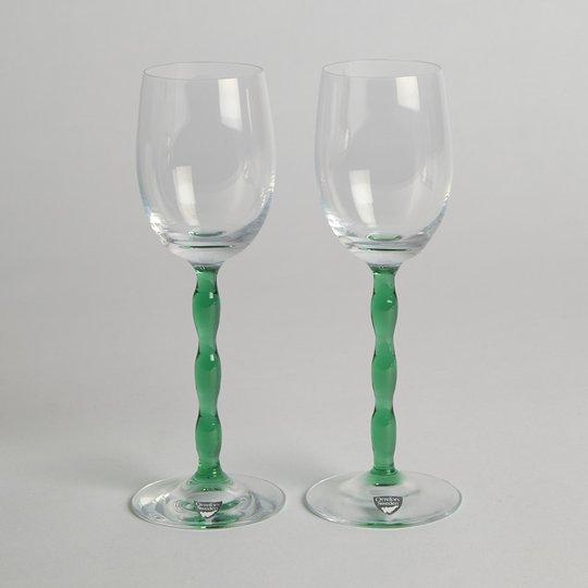 """Orrefors - SÅLD Vitvinsglas """"Nobel"""" 2 st"""