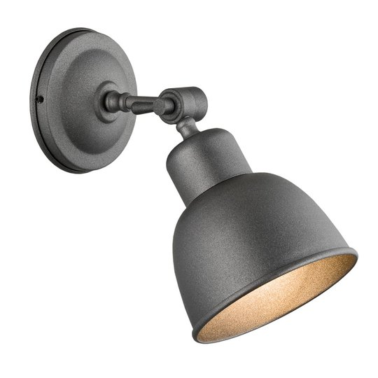 Vegglampe Emoti, 1 lyskilde, antrasitt