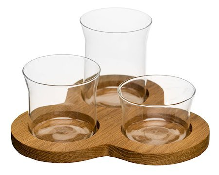 Oval oak serveringssett, 4 deler
