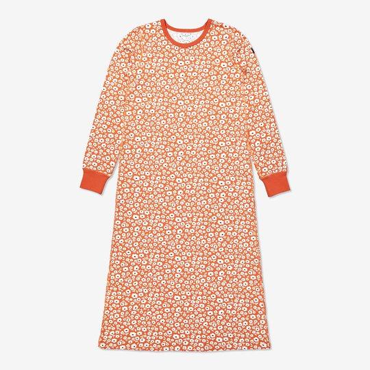 Nattkjole med blomstertrykk, voksen orange