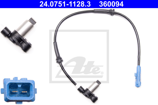 ABS-anturi ATE 24.0751-1128.3