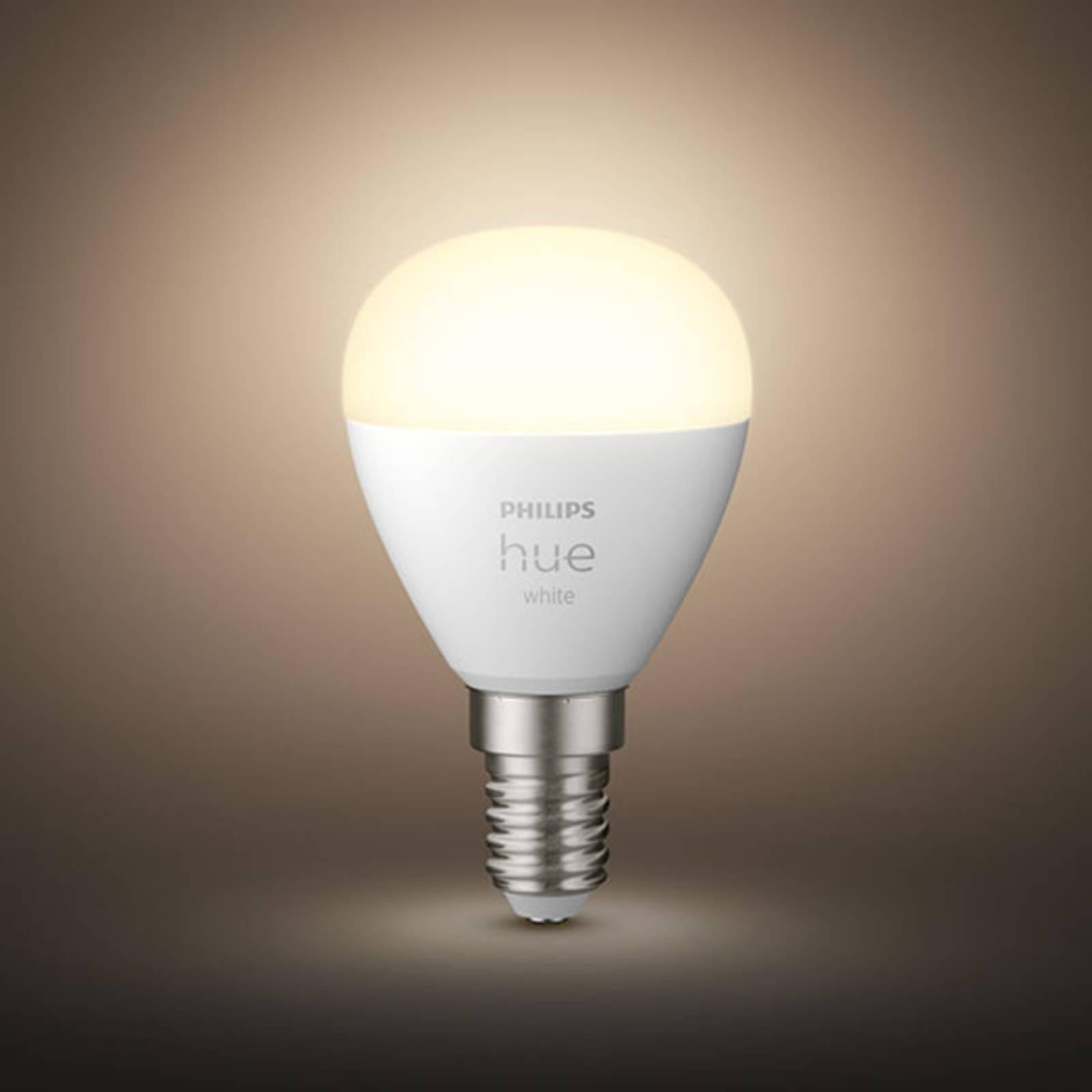 Philips Hue White LED-golfpallolamppu E14 2 700 K