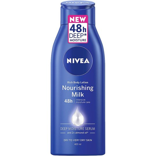 Body Milk Rich Nourishing 48h 400 ml, 400 ml Nivea Vartalon kosteutus
